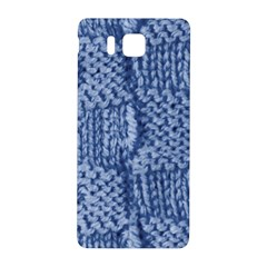 Knitted Wool Square Blue Samsung Galaxy Alpha Hardshell Back Case by snowwhitegirl