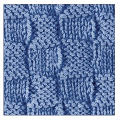 Knitted Wool Square Blue Large Satin Scarf (square) by snowwhitegirl