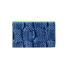 Knitted Wool Square Blue Cosmetic Bag (xs) by snowwhitegirl