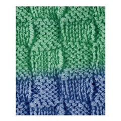 Knitted Wool Square Blue Green Shower Curtain 60  X 72  (medium)  by snowwhitegirl