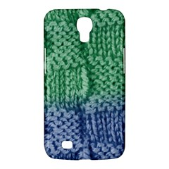 Knitted Wool Square Blue Green Samsung Galaxy Mega 6 3  I9200 Hardshell Case by snowwhitegirl