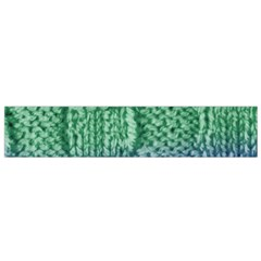 Knitted Wool Square Blue Green Small Flano Scarf by snowwhitegirl