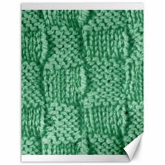 Knitted Wool Square Green Canvas 12  X 16   by snowwhitegirl
