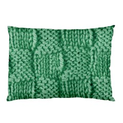 Knitted Wool Square Green Pillow Case by snowwhitegirl