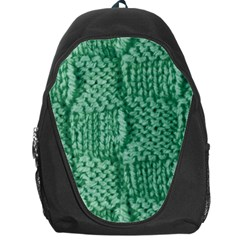 Knitted Wool Square Green Backpack Bag by snowwhitegirl