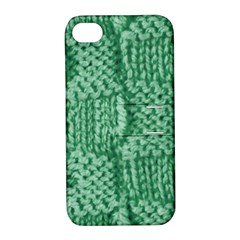 Knitted Wool Square Green Apple Iphone 4/4s Hardshell Case With Stand by snowwhitegirl