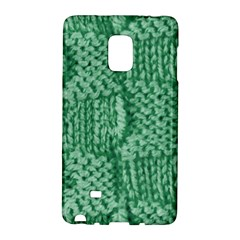 Knitted Wool Square Green Galaxy Note Edge by snowwhitegirl