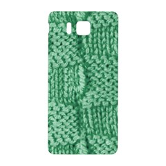 Knitted Wool Square Green Samsung Galaxy Alpha Hardshell Back Case by snowwhitegirl