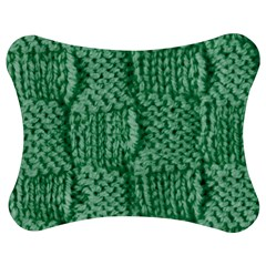 Knitted Wool Square Green Jigsaw Puzzle Photo Stand (bow) by snowwhitegirl