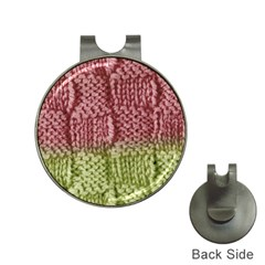 Knitted Wool Square Pink Green Hat Clips With Golf Markers by snowwhitegirl