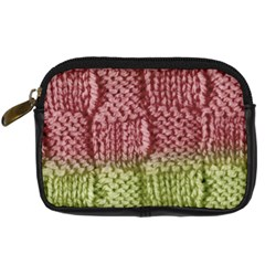 Knitted Wool Square Pink Green Digital Camera Cases by snowwhitegirl