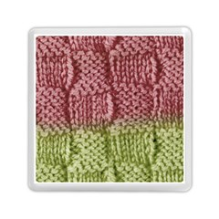 Knitted Wool Square Pink Green Memory Card Reader (square)  by snowwhitegirl