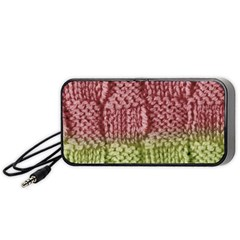 Knitted Wool Square Pink Green Portable Speaker by snowwhitegirl