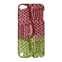 Knitted Wool Square Pink Green Apple Ipod Touch 5 Hardshell Case by snowwhitegirl