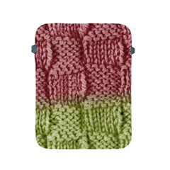 Knitted Wool Square Pink Green Apple Ipad 2/3/4 Protective Soft Cases by snowwhitegirl