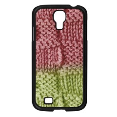 Knitted Wool Square Pink Green Samsung Galaxy S4 I9500/ I9505 Case (black) by snowwhitegirl