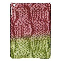 Knitted Wool Square Pink Green Ipad Air Hardshell Cases by snowwhitegirl