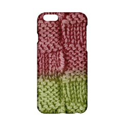 Knitted Wool Square Pink Green Apple Iphone 6/6s Hardshell Case by snowwhitegirl