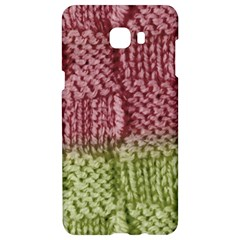 Knitted Wool Square Pink Green Samsung C9 Pro Hardshell Case  by snowwhitegirl