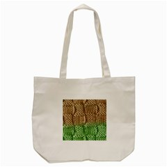 Knitted Wool Square Beige Green Tote Bag (cream) by snowwhitegirl
