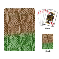 Knitted Wool Square Beige Green Playing Card by snowwhitegirl