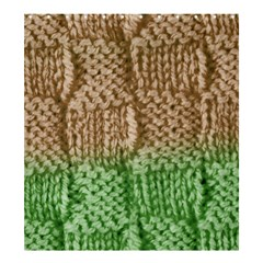 Knitted Wool Square Beige Green Shower Curtain 66  X 72  (large)  by snowwhitegirl