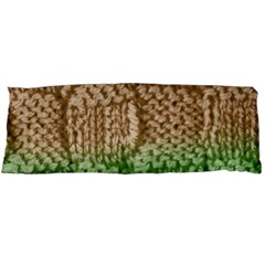 Knitted Wool Square Beige Green Body Pillow Case Dakimakura (two Sides) by snowwhitegirl
