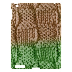 Knitted Wool Square Beige Green Apple Ipad 3/4 Hardshell Case by snowwhitegirl