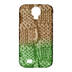 Knitted Wool Square Beige Green Samsung Galaxy S4 Classic Hardshell Case (pc+silicone) by snowwhitegirl