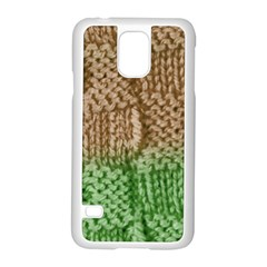 Knitted Wool Square Beige Green Samsung Galaxy S5 Case (white) by snowwhitegirl