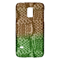Knitted Wool Square Beige Green Galaxy S5 Mini by snowwhitegirl