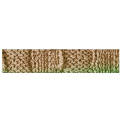 Knitted Wool Square Beige Green Small Flano Scarf by snowwhitegirl