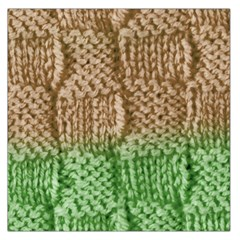 Knitted Wool Square Beige Green Large Satin Scarf (square) by snowwhitegirl
