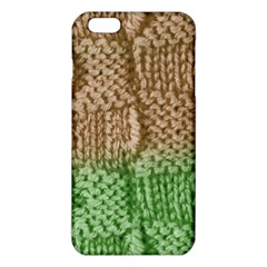 Knitted Wool Square Beige Green Iphone 6 Plus/6s Plus Tpu Case by snowwhitegirl