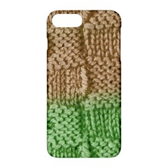 Knitted Wool Square Beige Green Apple Iphone 7 Plus Hardshell Case by snowwhitegirl