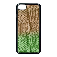 Knitted Wool Square Beige Green Apple Iphone 8 Seamless Case (black) by snowwhitegirl