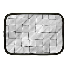 Silver Grid Pattern Netbook Case (medium)  by dflcprints
