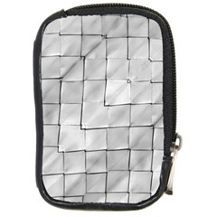 Silver Grid Pattern Compact Camera Cases by dflcprints
