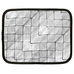 Silver Grid Pattern Netbook Case (xxl)  by dflcprints