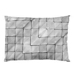 Silver Grid Pattern Pillow Case (two Sides) by dflcprints