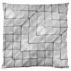 Silver Grid Pattern Standard Flano Cushion Case (two Sides) by dflcprints