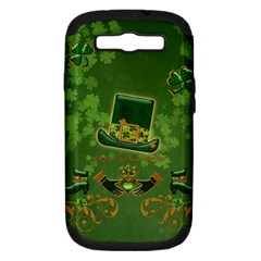 Happy St  Patrick s Day With Clover Samsung Galaxy S Iii Hardshell Case (pc+silicone) by FantasyWorld7