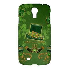 Happy St  Patrick s Day With Clover Samsung Galaxy S4 I9500/i9505 Hardshell Case by FantasyWorld7