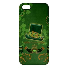 Happy St  Patrick s Day With Clover Iphone 5s/ Se Premium Hardshell Case by FantasyWorld7