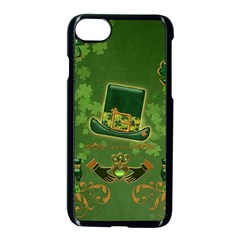 Happy St  Patrick s Day With Clover Apple Iphone 8 Seamless Case (black) by FantasyWorld7