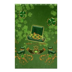 Happy St  Patrick s Day With Clover Shower Curtain 48  X 72  (small)  by FantasyWorld7