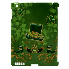 Happy St  Patrick s Day With Clover Apple Ipad 3/4 Hardshell Case (compatible With Smart Cover) by FantasyWorld7