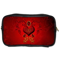Wonderful Hearts, Kisses Toiletries Bags by FantasyWorld7
