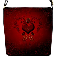 Wonderful Hearts, Kisses Flap Messenger Bag (s) by FantasyWorld7