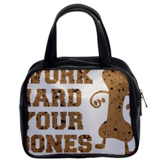 Work Hard Your Bones Classic Handbags (2 Sides) by Melcu